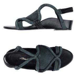 Shoes - Phillip Lim anthracite suede sandals size 39 GUC
